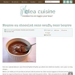 Mousse au chocolat sans oeufs, sans beurre