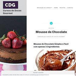 Mousse de Chocolate – Cursos de Doces Gourmet