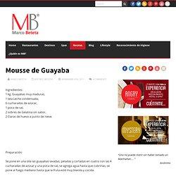 Mousse de Guayaba