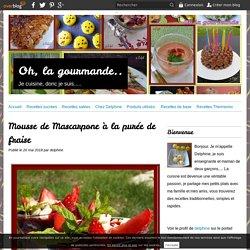 Mousse de Mascarpone à la purée de fraise