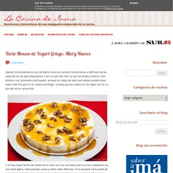 Tarta Mousse de Yogurt Griego, Miel y Nueces