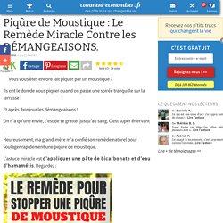 Piqûre de Moustique : Le Remède Miracle Contre les DÉMANGEAISONS.