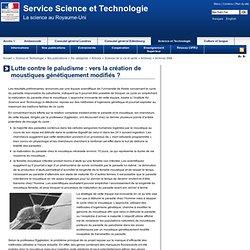 AMBASSADE DE FRANCE AU ROYAUME UNI - 2006 - Lutte contre le paludisme : vers la création de moustiques génétiquement modifiés ?