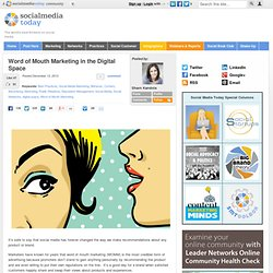 Word of Mouth and Digital Marketing