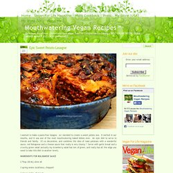 » Epic Sweet Potato Lasagne