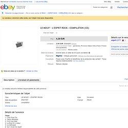 LE MOUV' - L'ESPRIT ROCK - COMPILATION (CD) en vente sur eBay.fr (fin le 08-nov.-10 13:22:50 Paris)