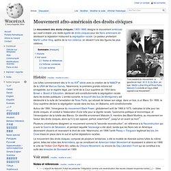 Mouvement afro-américain des droits civiques