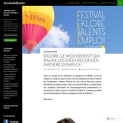 Eklore, le mouvement qui balaie les idées reçues en matière d'emploi !
