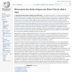 Mouvement des droits civiques aux États-Unis de 1896 à 1954
