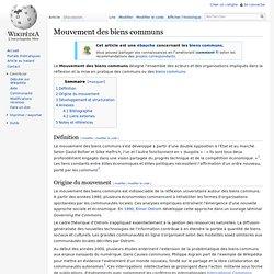 Mouvement des biens communs