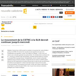 Le mouvement de la CSTNC à la SLN devrait continuer jusqu'à mercredi - nouvelle calédonie 1ère