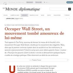 Occuper Wall Street, un mouvement tombé amoureux de lui-même, par Thomas Frank