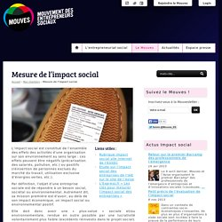 Mesure de l'impact social