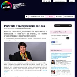 Portraits d'entrepreneurs sociaux