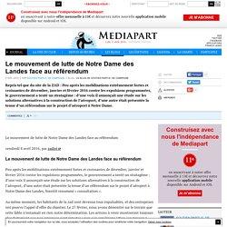 Le mouvement de lutte de Notre Dame des Landes face au référendum