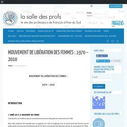 Mouvement de libération des femmes : 1970 – 2010