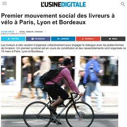 Premier mouvement social des livreurs à vélo à Paris, Lyon et Bordeaux