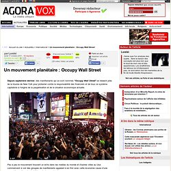 Un mouvement planétaire : Occupy Wall Street