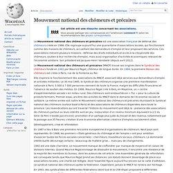 Mouvement national des chômeurs et précaires
