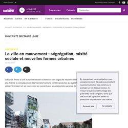 La ville en mouvement : ségrégation, mixité sociale et nouvelles formes urbaines