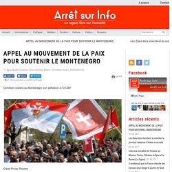 APPEL AU MOUVEMENT DE LA PAIX POUR SOUTENIR LE MONTENEGRO