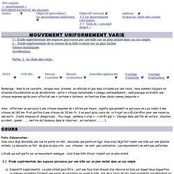 Mouvement uniformément varié