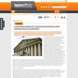 Le destin mouvementé de l'obligation de reporting extra-financier pour les entreprises - Reporting - Politique développement durable