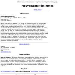 Mouvements féministes