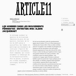 Les hommes dans les mouvements féministes : entretien avec Alban Jacquemart - Amélie Macé & Julia Z.