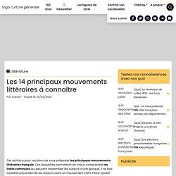 Les mouvements littéraires français