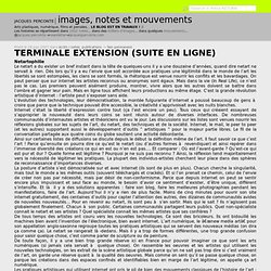 images, notes et mouvements » Terminale extension (suite en ligne) » images, notes et mouvements