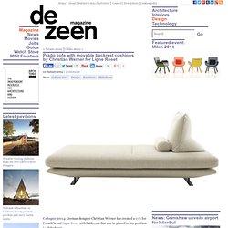 Prado sofa with movable backrests by Christian Werner for Ligne Roset