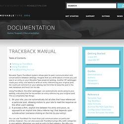 TrackBack Manual