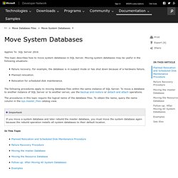 Move System Databases