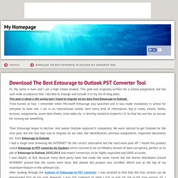 moveentouragetopst - Download The Best Entourage to Outlook PST Converter Tool