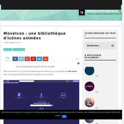 Moveicon : une bibliothèque d'icônes animées