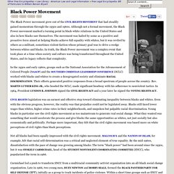 Black Power Movement - Blacks, Rights, Whites, and Civil