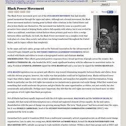 Black Power Movement - Blacks, Rights, Whites, and Civil