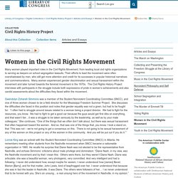 Women in the Civil Rights Movement - Civil Rights History Project
