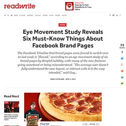 Eye Movement Study Reveals Six Must-Know Things About Facebook Brand Pages