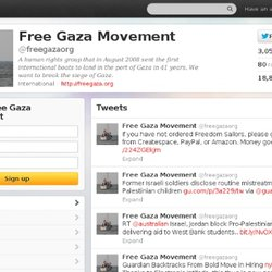 Free Gaza Movement (freegazaorg) on Twitter