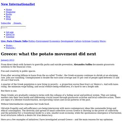 Greece: what the potato movement did next