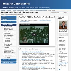 Primary Sources - History 128: The Civil Rights Movement - LibGuides at Tufts University