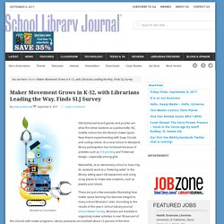 Maker Movement Grows in K-12, with Librarians Leading the Way, Finds SLJ Survey