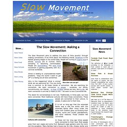 The Slow Movement: Making a Connection
