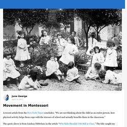 Movement in Montessori - Primary
