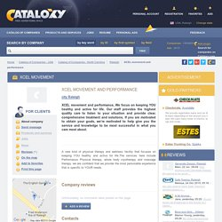 XCEL movement and performance, Raleigh — Catalog of companies Cataloxy.com
