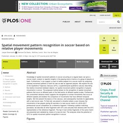 Spatial movement pattern recognition in soccer based on relative player movements