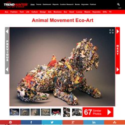Animal Movement Eco-Art: Recycled Mixed-Media Sculptures That Capture Animals in Action