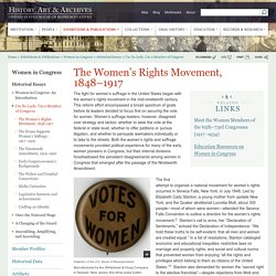 The Women's Rights Movement, 1848-1920